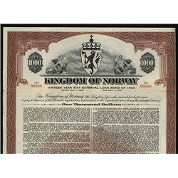 Kingdom of Norway Specimen Bond.