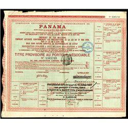 Compagne Universelle du Canal Interoceanique de Panama Issued Bond.
