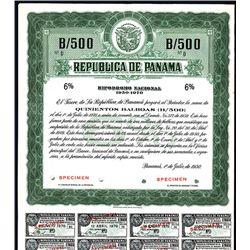 Republica de Panama, Specimen Bond.