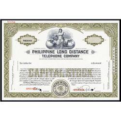 Philippine Long Distance Telephone Co. Specimen Stock.