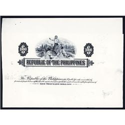Republic of the Philippines, ND (ca.1940's), Bond Proof.