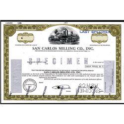 San Carlos Milling Co., Specimen Stock.