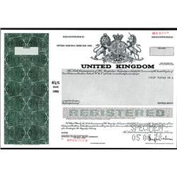 United Kingdom, Specimen Bond.