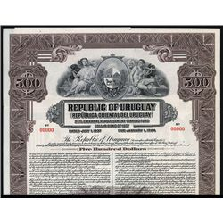 Republic of Uruguay Specimen Bond.