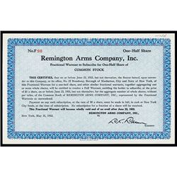 Remington Arms Co., Issued Stock.