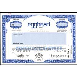 Egghead.com, Inc., Specimen Stock.
