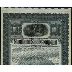 Southern Steel Co., Specimen Bond.