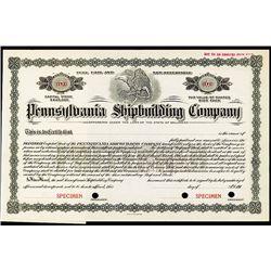 Pennsylvania Shipbuilding Co., Specimen Stock.