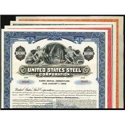 United States Steel Corp. Specimen Bonds. Lot of 4.