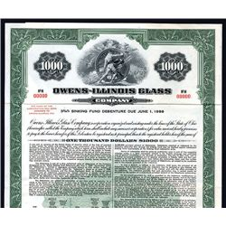 Owens-Illinois Glass Co., Specimen Bond.