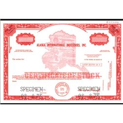 Alaska International Industries, Inc., Specimen Stock.