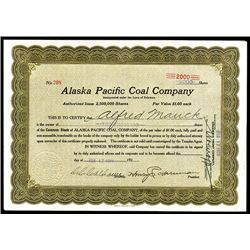 Alaska Pacific Coal Co., Issued Stock.