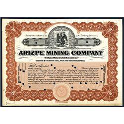 Arizpe Mining Co., Specimen Stock.