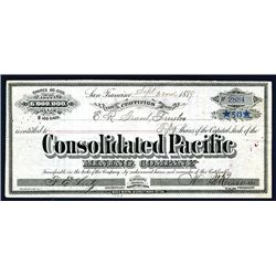 Consolidated Pacific Mining Co., Issued Stock.