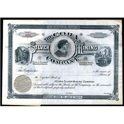 Cora Silver Mining Co., Unissued Stock.