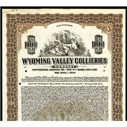 Wyoming Valley Collieries Co., Specimen Bond.