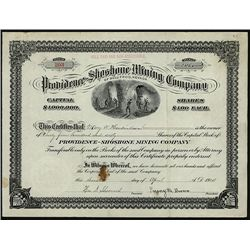Providence-Shoshone Mining Corp., Issued Stock.