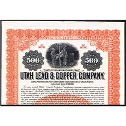 Utah & Copper Co. Specimen Bond.