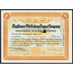 Mayflower Old Colony Copper Co., Issued Stock.