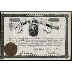 Ozark Silver Co. Issued Stock.
