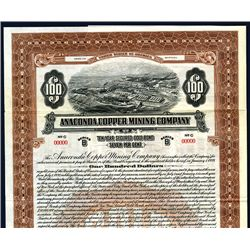 Anaconda Copper Mining Co., Specimen Bond.