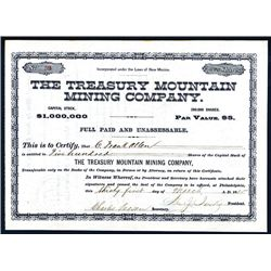 Treasury Mountain Mining Co., Issued Stock.