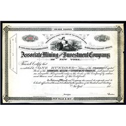 Associate Mining and Investment Co., Unissued Stock.