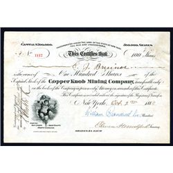 Copper Knob Mining Co., Issued Stock.