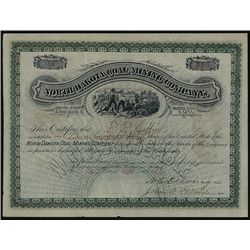 North Dakota Coal Mining Co. Issued Specimen.