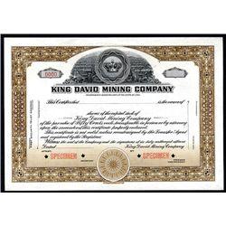 King David Mining Co., Specimen Stock.