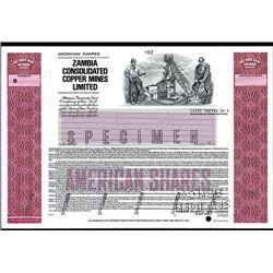 Zambia Consolidated Copper Mines Ltd. Specimen ADR.