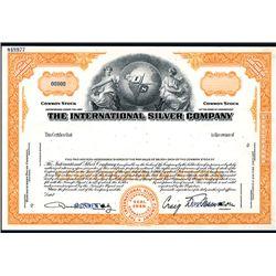 International Silver Co. Specimen Stock.