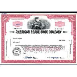 American Brake Shoe Co., Specimen Stock.