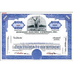 Hawaiian Electric co., Inc. Specimen Stock.