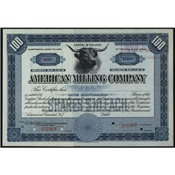 American Milling Co., Specimen Stock.