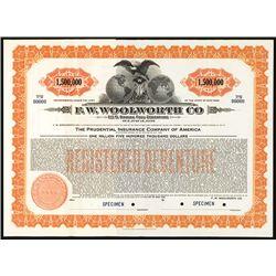 F.W. Woolworth Co. Specimen Bond.