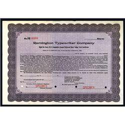 Remington Typewriter Co., Specimen Stock.