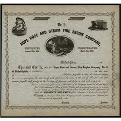 Hope Hose and Steam Fire Engine Co., Unissued Bond.