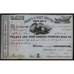Philad'a & West Chester Turnpike Road Co., Issued Stock.