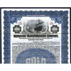 Rockland Transportation Co., Specimen Bond.
