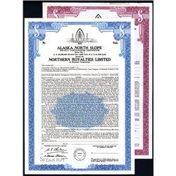 Alaska North Slope Royalty Participation Certificate, Specimen Bond.