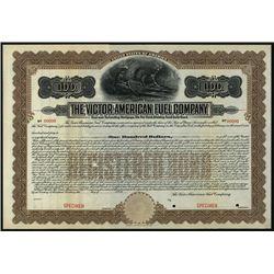 Victor-American Fuel Co., Specimen Bond.