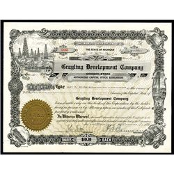 Grayling Development Co. Issued Stock.