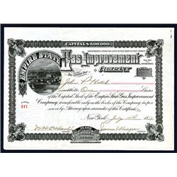 Empire State Gas Improvement Co. Issued Stock.