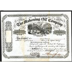 Mahoning Oil Co., Issued Stock.