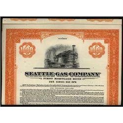 Seattle Gas Co. Specimen Bond.
