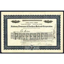 Alabama, Tennessee & Northern Railroad Corp., Issued Stock.
