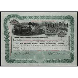Red Mountain Railroad Mining & Smelting Co., Issued Stock.