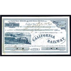 California Railway, Issued Stock.