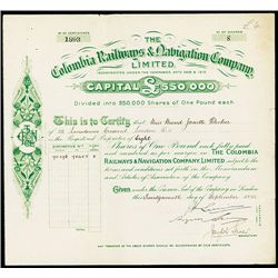 Colombia Railways & Navigation Co. Issued Shares.
